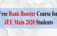Free Rank Booster Course for JEE Main 2020