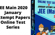 JEE Main 2020 January Attempt Papers Online Test Series