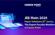 JEE Main 2020 Paper Solutions 9 January by Career Point