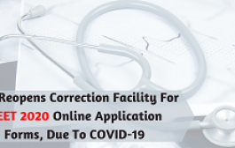 NTA Reopens Correction Facility For NEET 2020 Online Application Forms, Due To COVID-19