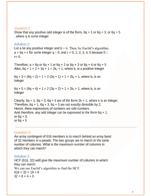 Class 10 Maths Exercise 1.1