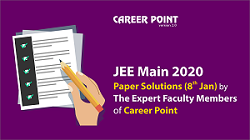 JEE Main Paper Solutions of 8 January