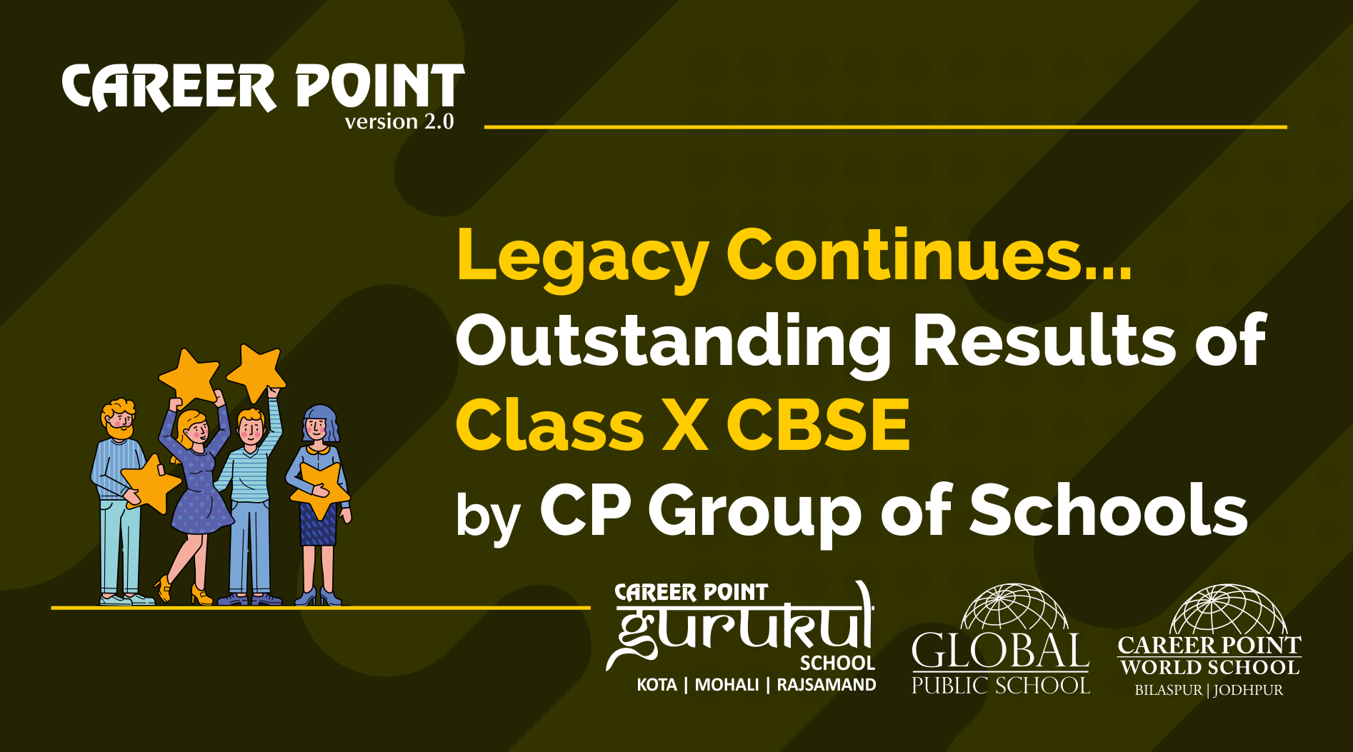 Legacy continues...Outstanding results of class X CBSE by CP Group of schools.